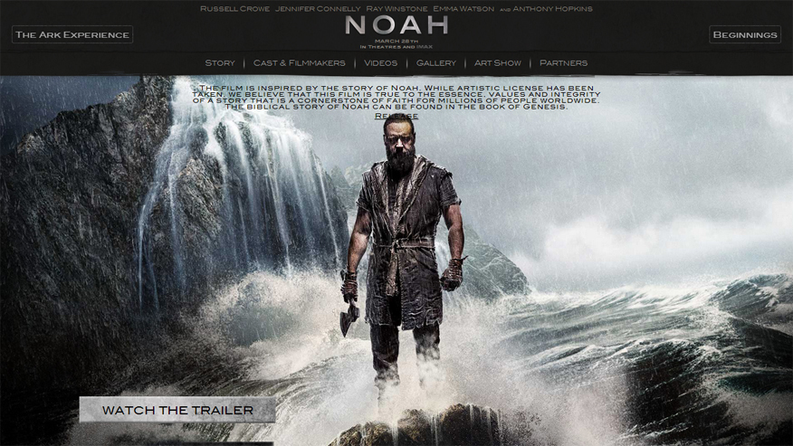 noah movie website