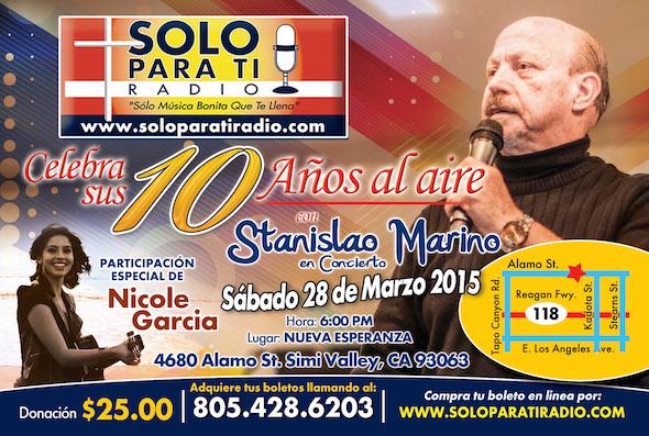 <B>Hermano Marino En Concierto 10 Aniversario SPTRadio&#8230;COMPRA AQUI TUS BOLETOS&#8230;</B>