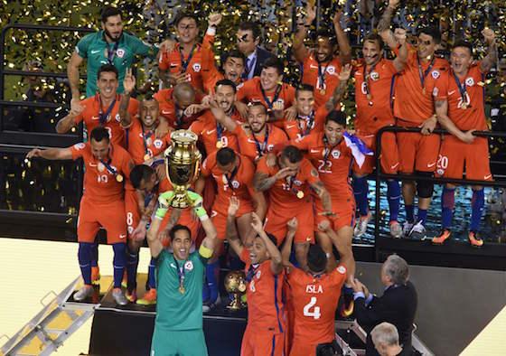 Chile campeón de America Centenario