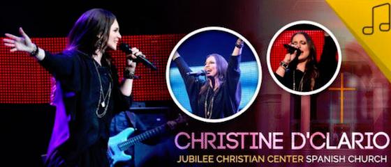 Christine estará en un gran concierto, click en la foto para detalles